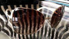 Authentic BVLGARI Marrone e crema di cristallo Frame Occhiali da sole