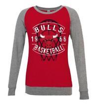 NBA Chicago Bulls Para Mujer Medio Ligero Raglán Jersey de logotipo de  color de equipo c06365a88ea