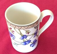 "Dansk Coffee Mug Cup 4"" Umbrian Flowers Design Made in Portugal Curved Handle"
