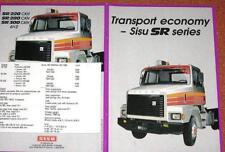 1982 Sisu SR 6x2 Truck Brochure - 12 pages - Finland - MINT - in English