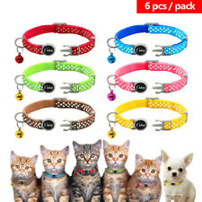 6pcs Wholesale Lot Safety Breakaway Cat Collars for Small Breeds Chihuahua Pug