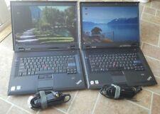 "Lot of 2 LENOVO THINKPAD SL500 15.4"" CORE 2 DUO 1.8GHz  2GB RAM 80GB Wifi Linux"