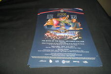 QUEEN BRIAN MAY & KERRY ELLIS 2 X A5 COLOUR FLYERS FOR 2011 SHOW CRANWELL AIR FO