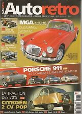 AUTO RETRO 320 911 993 MGA COUPE JEEP CJ5 CJ8 CITROEN 2CV POP 74 FLAMINIA ZAGATO