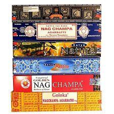 Varillas incienso surtido 6 aroma 12 cajitas 160 unidades Nag Champa fragancia