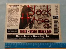 STICKER Beer Label ~*~ HORSEHEADS Brewing Black Horse India Black Ale ~ NEW YORK
