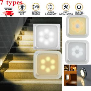 6LED MOTION SENSOR LIGHTS PIR WIRELESS WARDROBE CABINET AISLE LIGHT SMART HOME