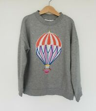 W10. Gris Molo Chicas Hot Air Balloon Suéter Jumper tamaño 140 10 años