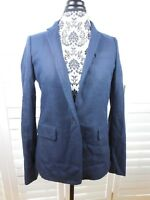 NEW J Crew Blazer Womens Size 10 Navy Blue Jacket Coat Casual Work Ladies
