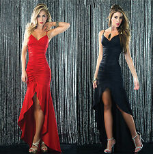 1PC Red Women Sexy Sleeveless Formal Slim Cocktail Party Dress Long Size XL New