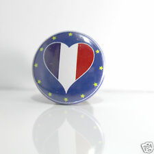 2 Badges Europe [25mm] PIN BACK BUTTON EPINGLE France