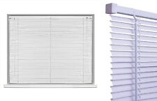 White Classic 60CM Wide 150CM Drop 25MM PVC Slats Venetian Blinds with Fitting