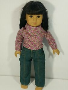 """American Girl Doll Ivy Ling 18"""" Doll - Julie's Friend w/Meet Outfit"""