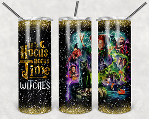20 oz Stainless Steel Skinny Tumbler It's Hocus pocus time witches cup