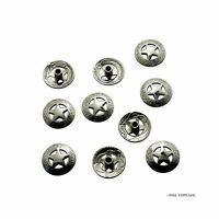 10 Pack bright Silver 3/4'' 21mm Western Texas Star Concho Saddle Concho