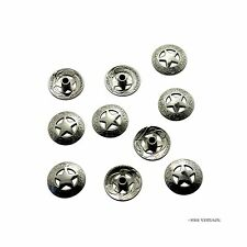 bright Silver 3/4'' 21mm Western Texas Star Concho Saddle Concho - 10 Pack