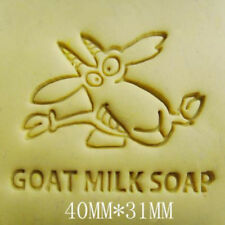 Goat Milk Handmade Resin Soap Stamp Seal Soap Mold Mould 40x31mm QW