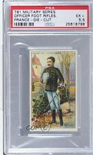 1909 Recruit Military Series Stand-Ups #FAFR Foot Artillery French PSA 5.5 4u6