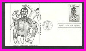 JIM THORPE: 1984 First Day Cover - Paslay Classic Cachets - Shawnee, OK