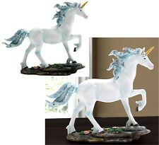 Mythical & Magical * White Unicorn Rocks & Flowers Figurine Or Sculpture * Nib