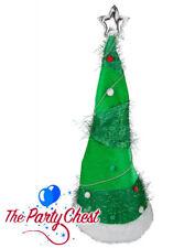 Long Arbre de Noël Chapeau avec étoile Festif Noël fête accessoire chapeau XM4635