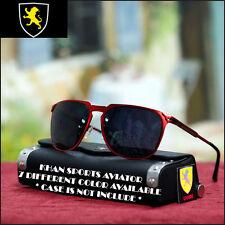 New Khan Aviator Sunglasses Fashion Designer Sports Casual Trendy Matt Red