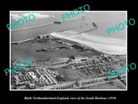 6x4 HISTORIC PHOTO OF BLYTH NORTHUMBERLAND ENGLAND VIEW OF SOUTH HARBOUR c1930