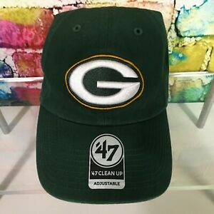 New GREEN BAY PACKERS NFL Football Hat Cap 47 Brand Clean Up Adult Adjustable