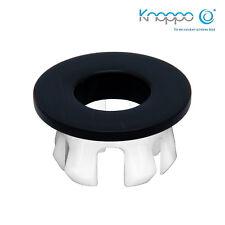 KNOPPO® Waschbecken Messing Abdeckung, Metall Überlaufblende - Eye Black brushed