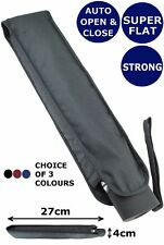 COLLAR AND CUFFS LONDON - WINDPROOF FLAT UMBRELLA - STRONG AUTOMATIC RRP £50