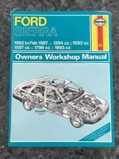 Haynes Workshop Manual Ford Sierra 1982-Feb 1987..1294cc/1593cc/1597/1796/1993cc