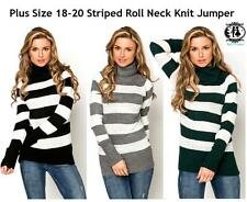 Check Plus Size Medium Knit Jumpers & Cardigans for Women