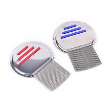 Brosse à peigne contre les poux de cheveux en acier inoxydable sans poussièreZPZ