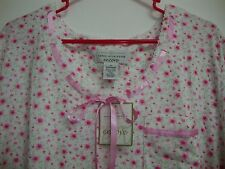 New Karen Neuburger encore Sleep Wear Dress 1X White Pink Vintage Floral Flower