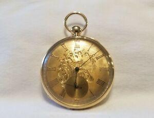 Vintage B&K, Cooper & Son English Pocket Watch- 18K Solid Gold Case
