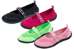 Women's Water Shoes Aqua Socks Hook and Loop Slip on Pool Yoga Exercise 4 Colors