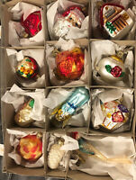"""Inge's Christmas Heirlooms """"The Bride's Tree"""" Glass Ornaments Made In Germany"""
