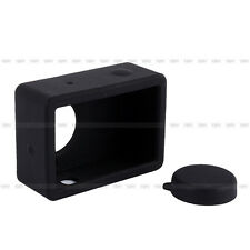Hot Soft Silicone Case Cover Skin For Xiaomi Yi Sport Camera Action + Lens Cover