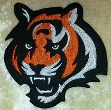 "Cincinnati Bengals Tiger BIG 3.5"" Iron On Embroidered Patch ~FREE Ship!"