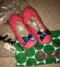 BODEN USA COZY SLIPPERS PINK NEW IN BAG SIZE 39 SIZE 8 FAST SHIP!