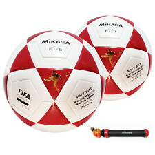 Mikasa Ft5 Goal Master Soccer Ball Size 5 Official FootVolley Ball Red -2Pack