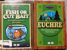 """2 Classic American Card Games """"EUCHRE & FISH OR CUT BAIT"""" FRONT PORCH NEW SEALED"""