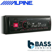 Alpine UTE-72BT Mechless Bluetooth AUX In USB iPod iPhone Red Display Car Stereo