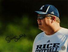 David Bailiff Rice Signed Autographed 8x10 Photo FSG Authenticated 2