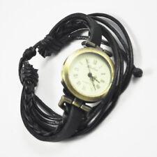 Orologio a quarzo bracciale in ecopelle orologio da polso nero per donna  L7H4