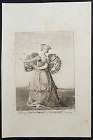 1784 Capt Cook Antique Print of a Tahitian Woman Dancing for Capt. Cook in 1777