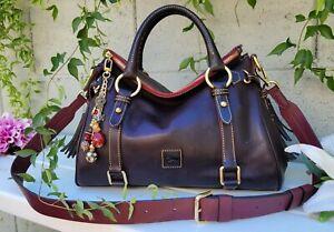 Dooney & Bourke florentine tmoro brown Satchel leather purse handbag shoulder