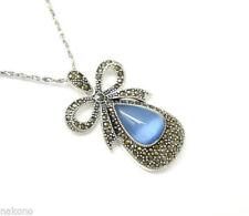 Collane e pendagli di lusso con gemme pietre blu