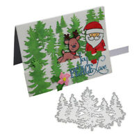Stanzschablone Wald Tannenbaum Weihnachten Geburtstag Hochzeit Karte Album Deko