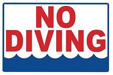 No Diving - Sign - #Ps-444